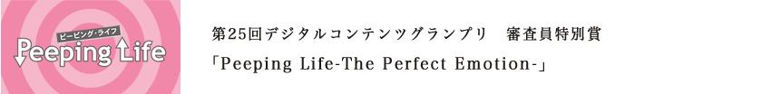 第25回デジタルコンテンツグランプリ 審査員特別賞 「Peeping Life-The Perfect Emotion-」